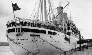 The boat the Empire Windrush 28th March 1954