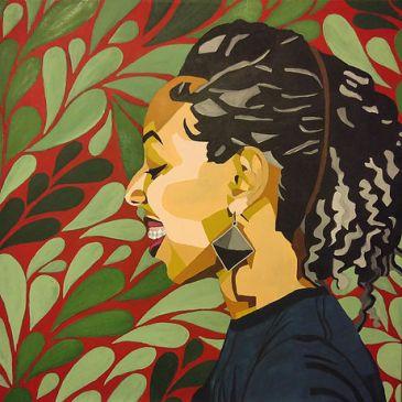 Happy Black Woman, by Mikela Henry-Lowe